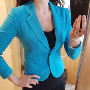 Blue H&M Blazer Jacket XS tagged 6